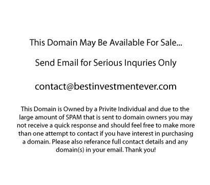 This Domain may be available for sale, enable images to view email address.